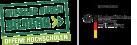 Logo Offene Hochschulen und BMBF