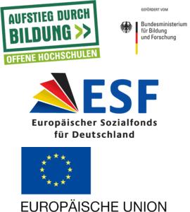 Logos Offene Hochschulen, BMBF, ESF, EU